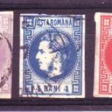1868 L.P. 21+22+23+24+24a stampilat - Timbre Romania