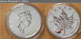 * Lingou argint - 2001 Maple Leaf -  sarpe rosu - Canada - foarte rar