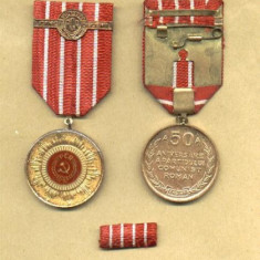 MEDALIA 50 ANI DE LA INFIINTAREA PCR - Medalii Romania