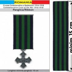 PANGLICA CRUCEA COMEMORATIVA A RAZBOIULUI 1916-1918 (replica) - Ordin/ Decoratie