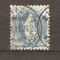 Timbre Elvetia 1907
