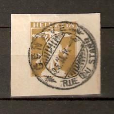 Timbre Elvetia 1907 Nedantelata