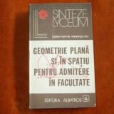 GEOMETRIE PLANA SI IN SPATIU PTR.ADM.FACULTATEE - Manual scolar