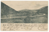 CFL 1904 ilustrata ORLAT jud Sibiu drum printre dealuri