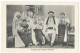 CFL 1925 ROMANIA Ilustrata port popular familie Poiana Sibiului judetul Sibiu