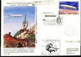 AA Aerofilatelie zbor aeropostal cu zepelinul,aeromfila 1989