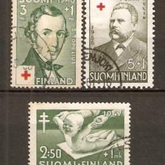 Timbre Finlanda 1947 - 48 Crucea Rosie