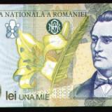 Eminescu, bacnota 1000 lei, 1998 - Bancnota romaneasca