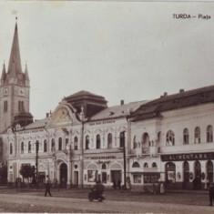R-5944 Turda Pta Republicii Circulata - Carte Postala Transilvania dupa 1918