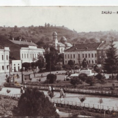 R-6017 Zalau Piata Libertatii Circulata - Carte Postala Crisana dupa 1918