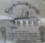 Certificat masonic 1918 litografie pe pergament !!! RRR!!!