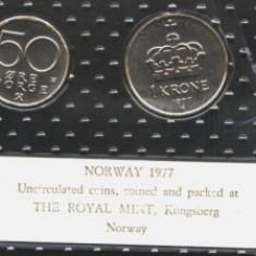 Norvegia set monetarie 1977 UNC