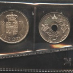 Danemarca set monetarie 1975 UNC