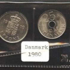 Danemarca set monetarie 1980 UNC