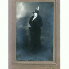 FOTO CABINET 47 Doamna -Foto-Splendid, I.Hartwig, Braila