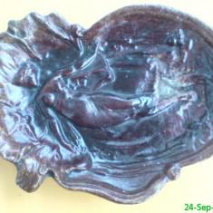 Scrumiera veche din aluminiu  (16cmX9cm)