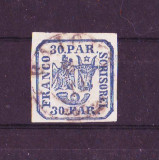 1864 L.P. 13 Parale 30 Moldova 2 stampilat