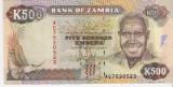 Bancnota 500 kwacha Zambia  UNC necirculata