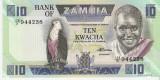 Bancnota 10 kwacha Zambia  UNC necirculata