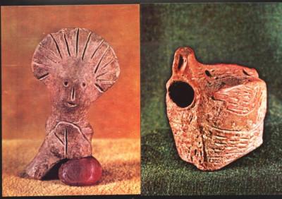 Ilustrate lot 2 buc obiecte de lut  ars cultura Turdas MNI Cluj foto