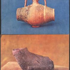 Ilustrate lot 2 buc obiecte de lut,roman+cultura Turdas MNI Cluj