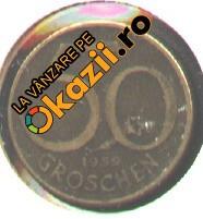 Austria 50 GROSCHEN 1959 cap de serie mai rara