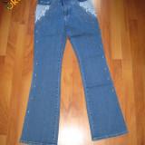 Blugi pantalon dama NOU! Usor streci, cu capse, IEFTIN: - Blugi dama, Albastru, Lungi