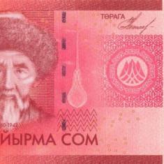 KYRGYZSTAN █ bancnota █ 20 Som █ 2009 █ P-24 █ UNC █ necirculata