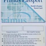 CARD PRIMUS PASSPORT SPECIMEN - PENTRU COLECTIONARI **