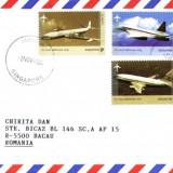 AA Aerofilatelie, avioane, plic circulat prin avion, Singapore