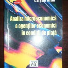 ANALIZA MICROECONOMICA A AGENTILOR ECONOM. IN CONDITII DE PIATA