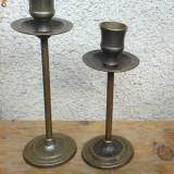 Pereche sfesnic din alama, patina - Metal/Fonta
