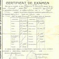 CERTIFICAT DE EXAMEN 1908 - Diploma/Certificat