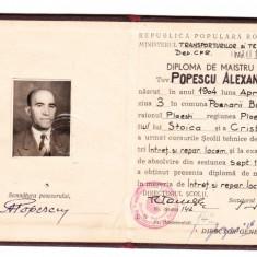 DIPLOMA DE MAISTRU - Diploma/Certificat