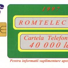 Cartela telefonica Romtelecom, 40000 lei 1997