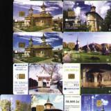 Set de  cartele telefonice Romtelecom, lacasuri de cult Ortodox