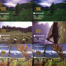 Set de 6 cartele telefonice Romtelecom, peisaje montane 3