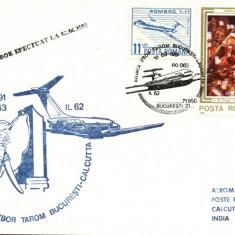 AA Aerofilatelie ,avioane transport, circulat prin avion Calcuta