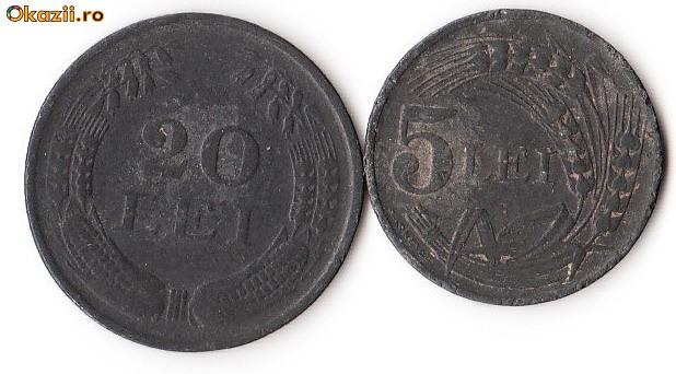5 LEI +20 LEI 1942