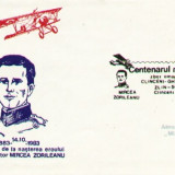 AA Aerofilatelie , avioan ZLIN-50, Centenar Mircea Zorileanu