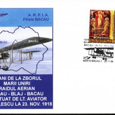 Plic 90 de ani de la zborul marii Uniri Bacau- Blaj