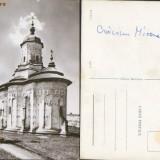 Biserica manastirii Probota  necirculata alb-negru aprox 1970
