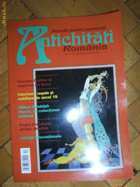 REVISTA ANTICHITATI ROMANIA ,nr.6/2008