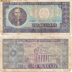 Bancnota 100 Lei - 1966