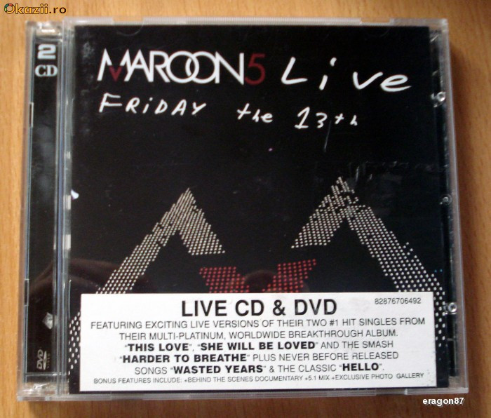 Maroon 5 - Friday the 13th (live) CD+DVD foto mare