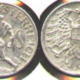 Austria 1 SCHILLING 1952 aluminiu RAR
