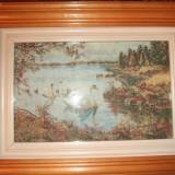 Goblen Lac cu lebede - Tapiterie Goblen