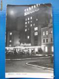 Brasov - Hotelul Carpati (nocturna, masini de epoca)  #  R.P.R.
