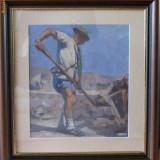 Muncitor - Adam Andras - Scoala de Baia Mare, u/p - Pictor roman, Scene gen, Ulei, Altul