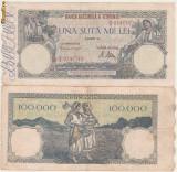 2 bancnote 100.000 lei, 21 oct. si 20 dec. 1946
